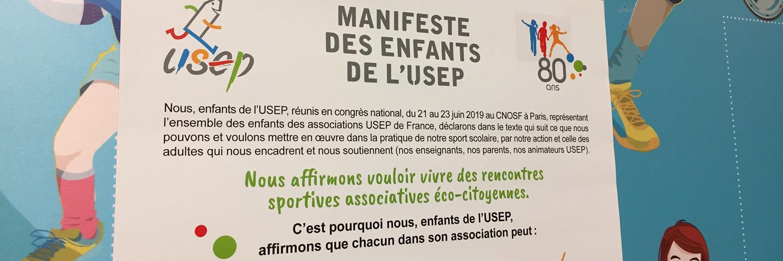 Emparez-vous du Manifeste des enfants de l'Usep !
